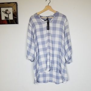 Max jeans blue plated quarter sleeves top 1x